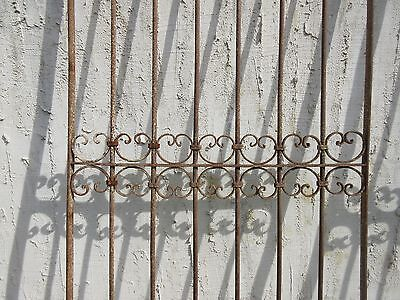Antique Victorian Iron Gate Window Garden Fence Architectural Salvage Door #352 3