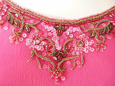 Asian Wedding Cerise Pink & Red Trouser Suit With Scarf   M   Ret £350   Bnwt 8