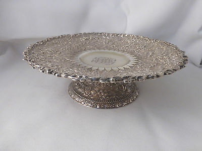 "Tiffany Repousse Sterling Compote Centerpiece - 9"" 2"