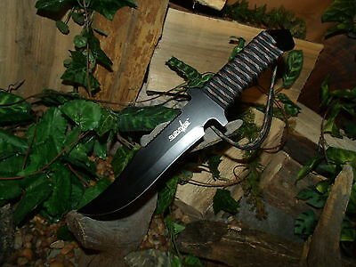 Knife/Blade/Bowie/Harpoon/Spear/Full tang/Zombie/Paracord 550 MINI survival kit 4