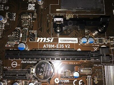 MSI A78M-E35 V2 AMD FM2+ SATA 6Gb/s USB 3 0 HDMI DVI VGA Micro ATX  Motherboard