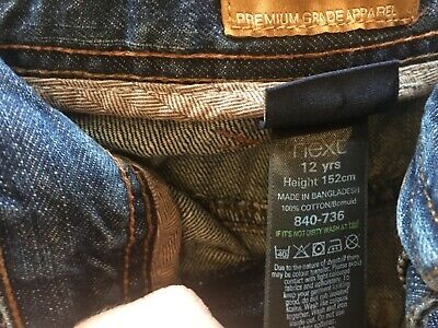 Next Boys Age 12 Blue Jeans Height 152cm in Great Condition 100% Cotton 6