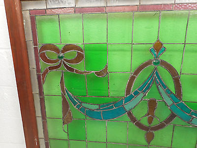 Large Vintage Stained Glass Window Panel (3020)NJ 4