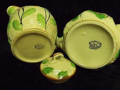 Antique Japan Hand Painted Poppies Porcelain Teapot And Creamer Set K Hallmark