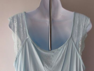 Laura Ashley Womens Stretchy Chemise Lace Night Gown Dress Pajamas NEW 9