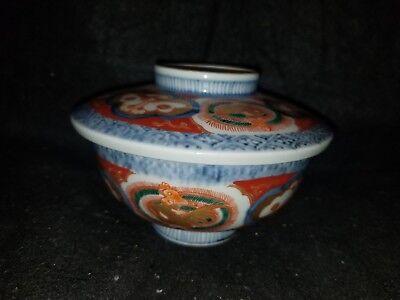 ANTIQUE JAPANESE PORCELAIN ARITA IMARI FUKI CHOSHUN MEIJI PERIOD rice bowl 2