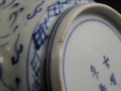 Set Four Antique Japanese Imari Scalloped Rim Bowls Four Character Marks 19th C 5