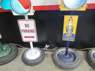 Large Traffic Light Gas Pump Globe Sign Pole Harley Coke OK Cars Corvette 11