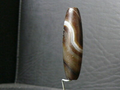 (eV061) Tibet   Old Natural DZI  GZI Agate Bead 4