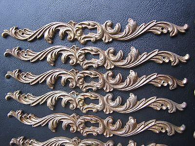 6 Antique Drawer Pulls-8 Drawer Plates Ornate Dresser Key plates Knobs- Vintage 3
