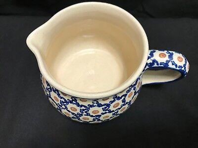 """Boleslawiec Polish Pottery Stoneware Medium 6 3//4/"""" Fluted Bowl /""""Andrea/"""" NWT"""