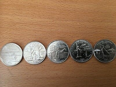 PICK ANY OF THE 50 US STATE QUARTERS P or D mint - UNCIRCULATED 9