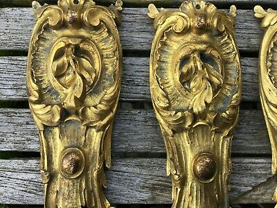 Louis XV Antique French Gilt Bronze Furniture Mounts - Selling Individually 2