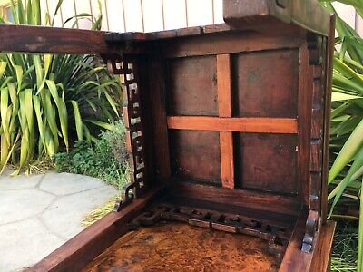 2 RARE ANTIQUE CHINESE HUANGHUALI WOOD SIDE TABLE  wood asian art chair 9