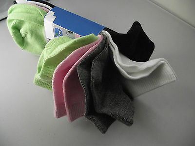 BNWT Girls Pack of 5 Cute Mixed Colours Ankle Socks Size 13-3 Age 8-10 Years 2