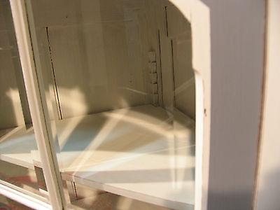 ancien meuble d 39 angle en bois patin encoignure biblioth que tag res vitrine eur 580 00. Black Bedroom Furniture Sets. Home Design Ideas