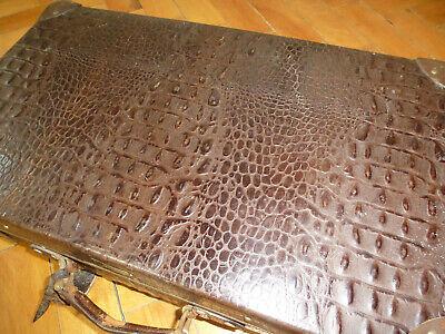 Real Volcano Fibre Suitcase um 1910 Vulcanised Fibre Travel Cases 4
