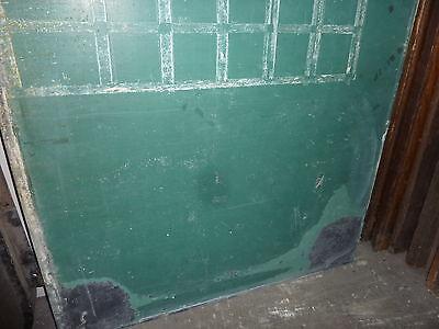 "antique ORIGINAL circa 1920's schoolhouse SLATE chalkboard 62.5"" x 42"" UTICA, NY 6"