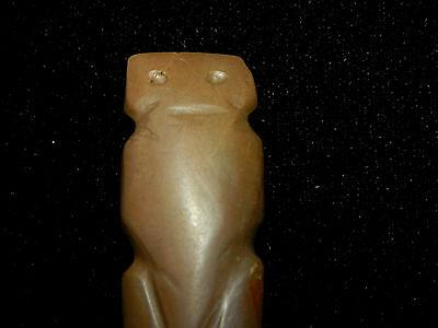 Pre-Columbian Zoomorphic Jade Pendant, Nicoya, Rare, Authentic 2