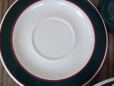 Nancy Calhoun Fusions Evergreen Raspberry Set Dinner Salad Plate Coffee Cup 4 PC 6
