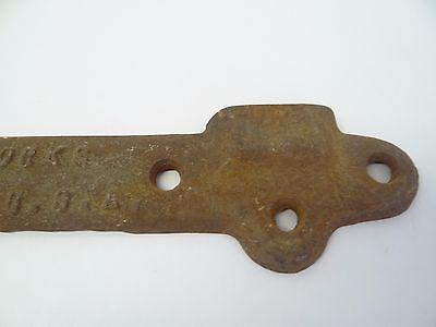 Antique Old Standard D & M Works USA Cast Iron Metal Lock Deadbolt Bracket Part 2