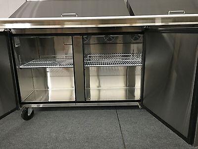 SANDWICH PREP TABLE UNIT DOOR MEGA TOP SALAD PREP Pan - Sandwich prep table cooler