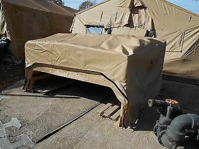 MILITARY SURPLUS HMMWV M998 Troop Seats Truck Cargo Cover With Bows Set Army