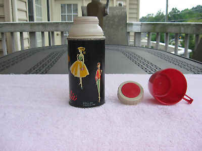 Vintage 1962 Mattel Metal Barbie Thermos Bottle No.2025H