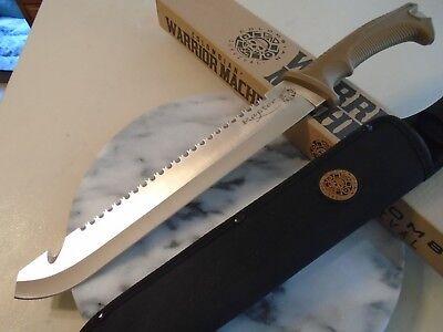 "Colombian Warrior Raptor Machete Sword Knife Saw Hook Full Tang 3234 3Cr13 18"" 2"