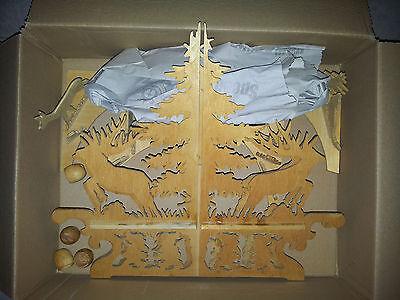 Kerzenleuchter Adventskalender Jagd Wald Wichtel Zwerge Tischband Tischdeckchen 3