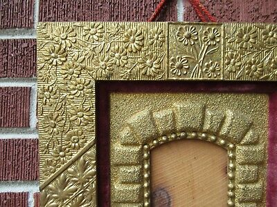 Antique AESTHETIC Movement ERA Floral GOLD Frame for Small MINIATURE Photo c1880 5