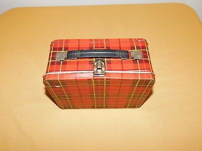 Vintage 1964 King Seeley Plaid Metal Lunchbox