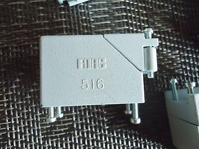 "10 New Edac 516 Cover For Pin Connector Size: 1 5/8"" X 11/16"" X 7/8"""