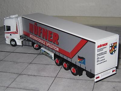 """Herpa Gardinenplanenauflieger /""""Scania Bochum Heinrichs/"""" 306669 //H10434-2"""