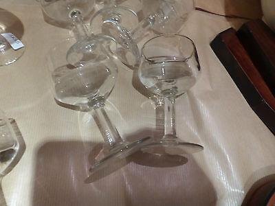 lot de 9 ancien verre de bistrot porto canon verre à pied année 50