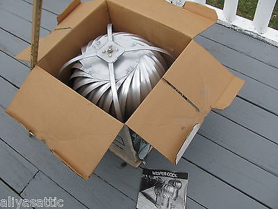 "Quality Wind Turbine Cooling Fan Roof Mount NOS Wisper Cool Made in USA 12"" V 10"