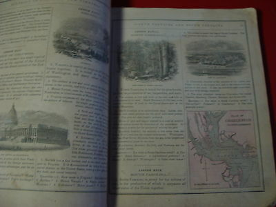 1858 COLTON & FITCH'S Modern School Geography illustrated w/ 40 maps