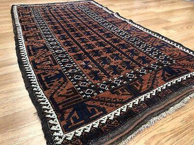 Beautiful Balouch - 1930s Antique Rug - Tribal Carpet - 3 x 5.6 ft. 3