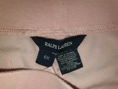 Girls RALPH LAUREN Velour Tracksuit Bottoms Age 6 Years 4