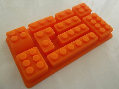 Set Multi Lego Brick Silicone Jelly Cake Ice Soap Crayon Mold Mould Party Novelt
