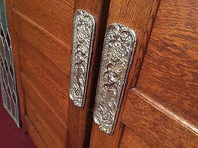 "Early 1900s Oak Bar Saloon Doors with Glass Side Panels  ""Watch Video"" 3"