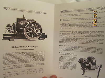 Two 1919 Emerson Brantingham 1 1/2HP Type H Engine Sales/Info  Manuals 2