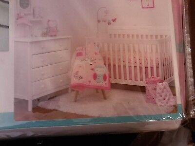 Owl Unicorn Child of Mine Princess 3pc Crib Bedding Set