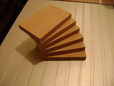 """5 x Freestanding 6/"""" x 4/"""" x 18mm Thick  MDF Wooden Rectangles Blocks Quality Made"""