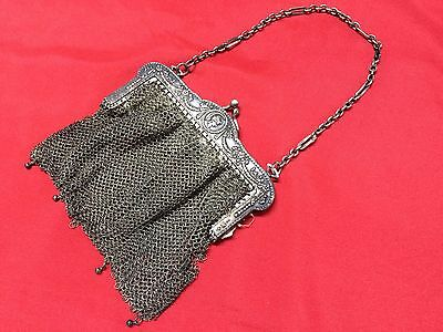 Antique Greek Pewter Womens Purse Alpacca Handbag Ladies Greece Grecia Peltro 10