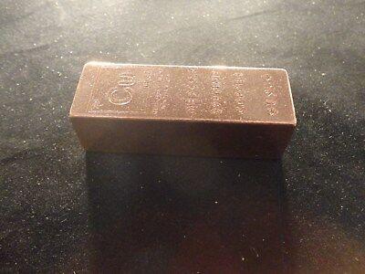 COPPER BAR 1 POUND-TRAPAZOID -SALE- Premium Bars- RANDOM DESIGN  STACKABLE-INGOT 3