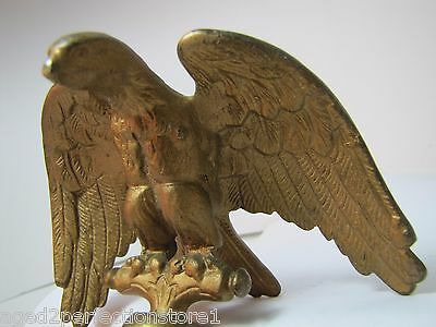 Old Eagle Finial Topper figural ornate high relief detail flag pole topper metal 7
