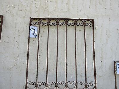 Antique Victorian Iron Gate Window Garden Fence Architectural Salvage Door #52 2