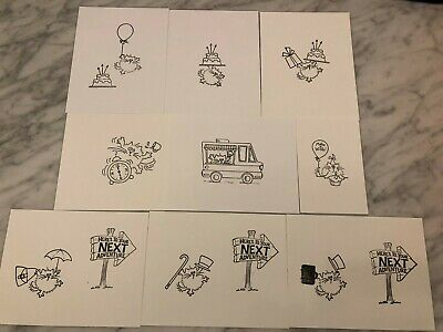 Stampendous Fluffles Cat Stamp Stamped IMAGES on CARDSTOCK ONLY - Your Choice 8