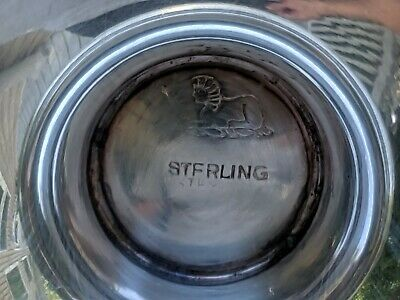 "Pierced Rim Sterling 96 grams 6"" x 2.5"" Footed Candy Dish/Bowl -- Sphinx Marking 7"